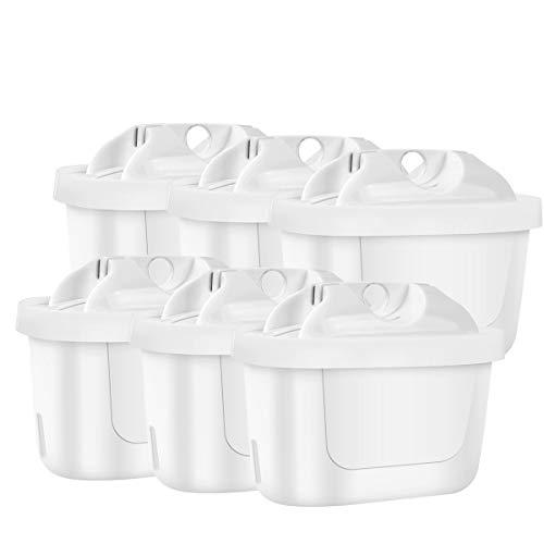 SRJTEK Cartucho de filtro compatible con Brita Maxtra+, cartucho de filtro de agua para Brita Style, Brita Fun, Mavea Elemaris XL, Merella Cool, Anna Duomax (6 unidades)