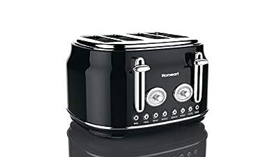 Homeart Artisan Toaster, 4 Slice, Black
