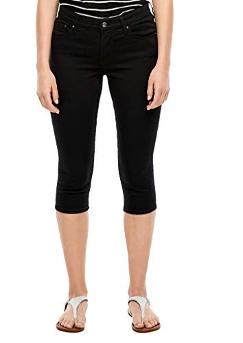 s.Oliver Damen Slim Fit: Capri aus Twill Black 44