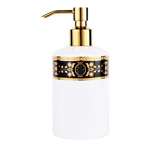 Xuejuanshop Despachador de Jabón Dispensador de jabón, de Porcelana, de Accesorios de baño, Porcelana, Blanco, 17,8 X 7,5 X 6,8 cm Dispensador de líquidos (Color : B)