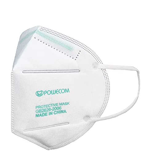 20-Pack Powecom KN95 Masks (EUA Listed Approved on Appendix A - Authorized Disposable Respirator Non-NIOSH GB2626-2006 (20 Count)