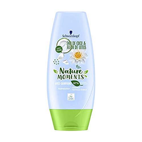 Nature Moments - Après-Shampooing Hydratation Coco&Lotus - Cheveux normaux à secs - 200ml