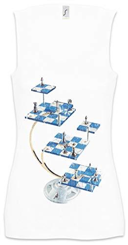 Urban Backwoods Star Chess Mujer Camiseta Sin Mangas Women Tank Top Blanco Talla XL