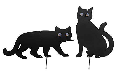 WENKO Vogelschreck Katzen, 2er Set vertreiben verjagen Schreck scheuchen