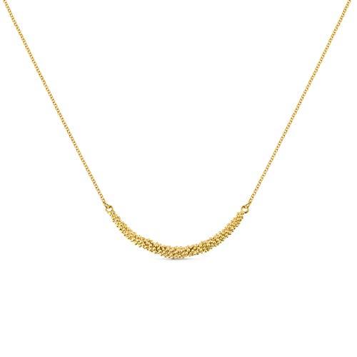 JOIDART – Collar Dorado Stardust   Diseñado por Carme Fàbregas   Colección Stardust   Collar de Metal con baño de Oro de 24k
