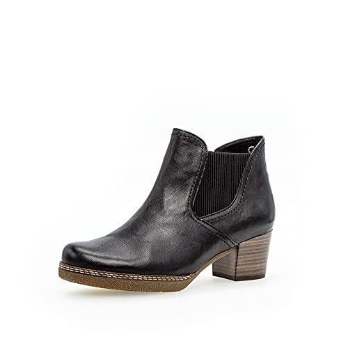 Gabor Damen Chelsea Boots, Frauen Stiefeletten,Wechselfußbett,Moderate Mehrweite (G),uebergangsschuhe,Ocean (S.n/Micro),39 EU / 6 UK