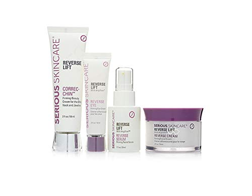 Serious Skincare Reverse Lift Firming 4 Piece Set Reverse Lift Serum, Eye, Correc-Chin & Facial Cream