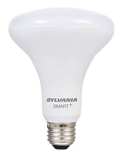 LEDVANCE 74581 Dim Sylvania Smart+ LED Light Bulb, BR30 Dimmable, 60W Equivalent, Works with SmartThings and Alexa, 10 Year Series, 1 Pack, Soft White