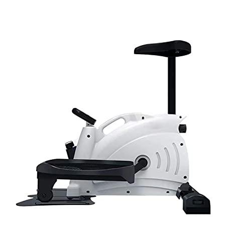 DJDLLZY Step Fitness Machines Máquina paso a paso con monitor LCD magnético Mini bicicleta estática Mini elíptica Stride Trainer Pedal Ejerciciador paso a paso (color: blanco)