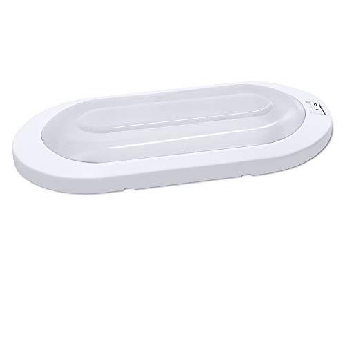 Facon Classic Style LED Helle Pfannkuchenleuchte 12 Volt Innendeckenleuchte mit EIN/Aus-Schalter für Wohnmobile Wohnmobil Wohnwagen Anhänger Boot Marine (1er Pack, 3400K Warmweiß)