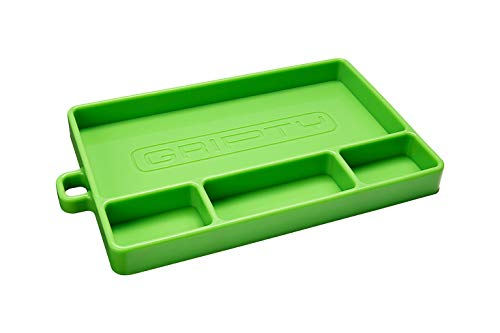 Gripty | PREMIUM Silicone Tool Tray | Flexible | Multi Purpose Mat | Portable Tool Box Organizer | No Magnets | Easy Clean Up | (Medium-ORIGINAL Green)