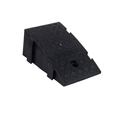Beweegbare Lichtgewicht Oprijplaten, fietsen/kinderwagens Oprijplaten Car Boot Portable Slope Mat (Zwart Rood Geel, 25 * 45 * 19cm) (Color : Black, Size : 25 * 45 * 19cm)