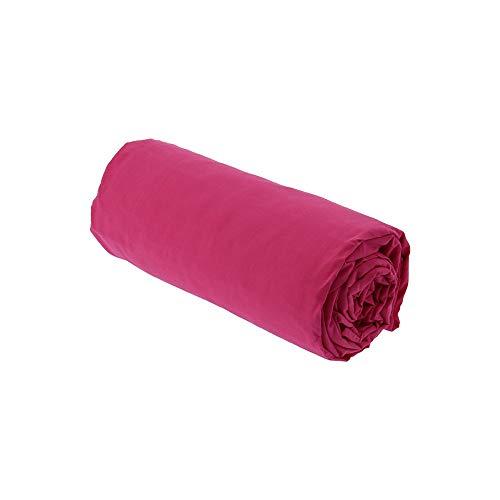 Drap House Percale 180x200 Bonnet 30 cm Fuchsia - Couleur: Fuchsia