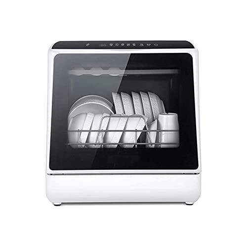 Lavavajillas De Encimera Portátil Totalmente Automático con 6 Posiciones Función De Secado Al Aire Y Luz Led Cuidado del Bebé Encimera O Instalación Empotrada Acero Inoxidable