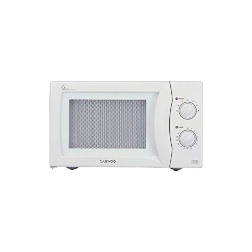 Daewoo KOR6N35SR Manual Microwave Oven with Stainless Steel Interior, 800 W, 20 Litre, White