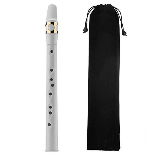 Jiayouy White Mini Portable Saxophone with Carrying Bag Perfect for Musicians and...
