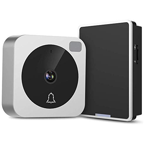 Video Doorbell - NETVUE Wireless Doorbell Camera with Two-Way Talk, IR Motion Detection, Night Vision, Compatible with Alexa Echo Show, WiFi Camera Doorbell with Cloud Storage [Wall Plug Included]