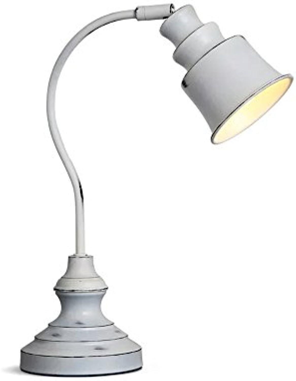 Tischlampe American Iron Schreibtischlampe Retro Einstellbare Schwanenhals Lampe Leselampe Für Schlafzimmer Studie Büro, Φ30cm H37cm E1
