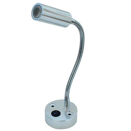 NOYES Leselampe LED 12V 3W Beleuchtung 2900K Schwanenhals