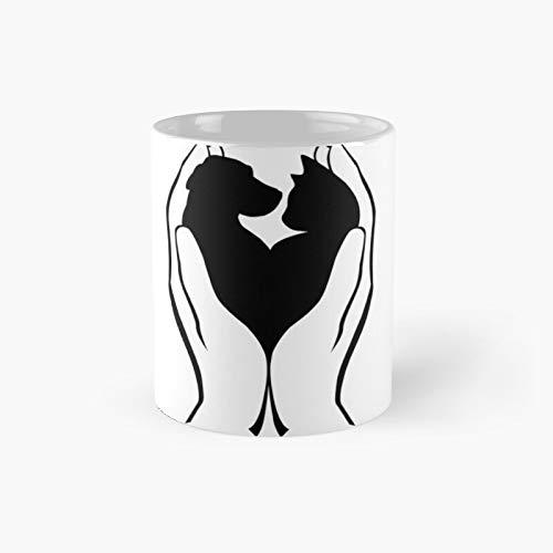 Taza clásica de refugio para perros y gatos | El mejor regalo divertidas tazas de café de 325 ml