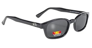 Pacific Coast Original KD s Polarized Biker Sunglasses  Black Frame/Dark Grey Lens