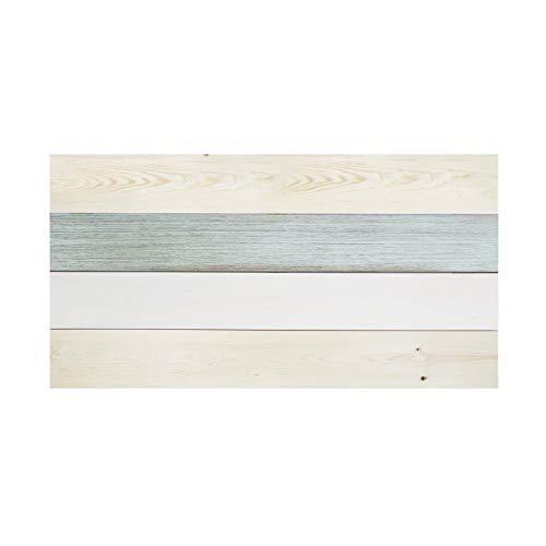 Decowood - Cabecero para Cama Dormitorio, Hallstatt Forest con Lamas Horizontales, Madera de Pino, Azul - 140 x 80 cm