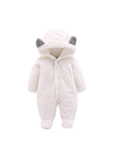 Voopptaw Unisex Infant Baby Cute Winter Warm Hooded Romper Jumpsuit...