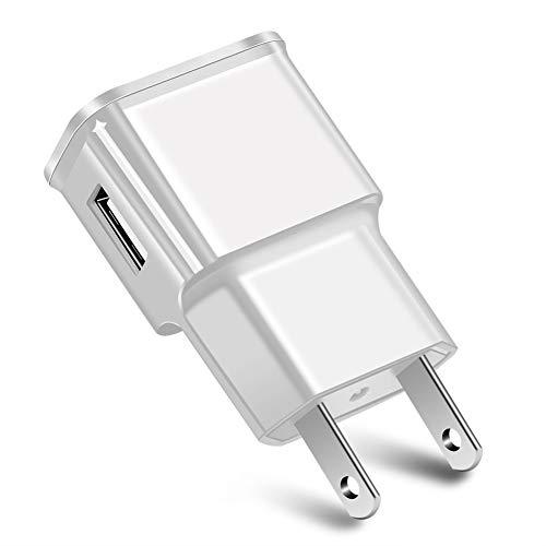 Moares Cargador De Pared, Adaptador De Corriente De Cargador De Teléfono USB Portátil 5V Solo para Android, Enchufe De La UE Blanco Enchufe de la UE