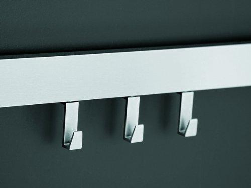 Linea Titan Reling Set 3 Haken Aluminium edelstahlfarbig 900mm
