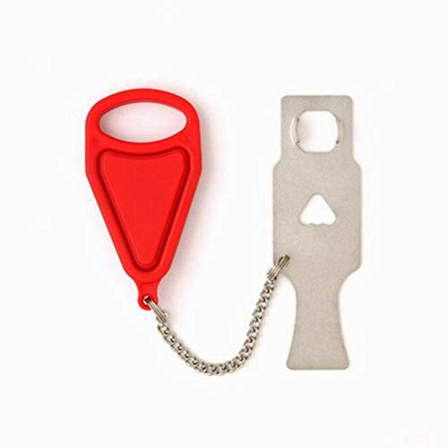 3 Pack Portable Door Lock for Travel - Solid Heavy Duty Pocket Travel Door Lock, Perfect for Hotel, College, Home, Travel, School, Apartment (Portable Door Lock)