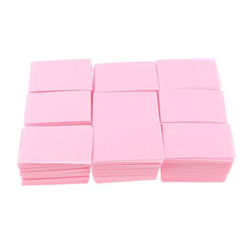 perfeclan Set de 700 Carré Cellulose En Coton Design épaissi Pour Nail Art Ongles Maquillages Jetable pour Démaquillants - Rose