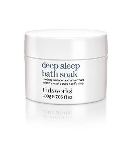 This Works Deep Sleep Bath Soak - Sleep Aid Bath Salts - Entspannendes Badesalz für den perfekten Schlaf, 1er Pack (1 x 0.2 kg)