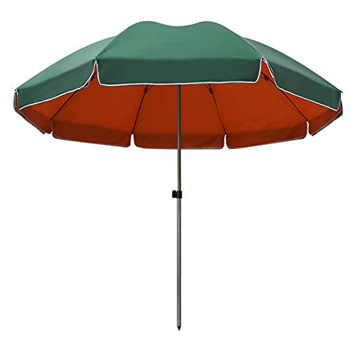 SHANJ Sombrillas de Jardin,Grandes Sombrillas de Mercado al Aire Libre, Sombrillas de PlayaProtección UV UPF50+ Sombrillas de Jardín,Redondo,Verde,Sombrilla de Mesa de Terraza