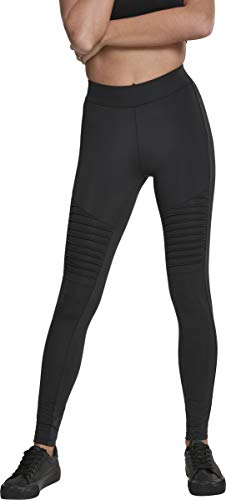 Urban Classics Damen Ladies Tech Biker Leggings, Schwarz (Black 00007), XL