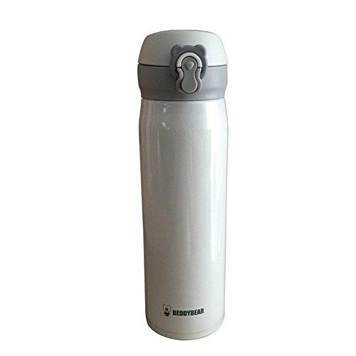 Beddybear Thermos anti-fuite en acier inoxydable Blanc 480 ml