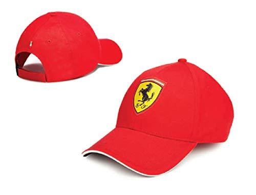 ScuderiaFerrari - Sombrero Oficial de Ferrari para Hombre y Adulto, niño, Gorro, escudería, Caballo, Color Rojo, Rojo,...