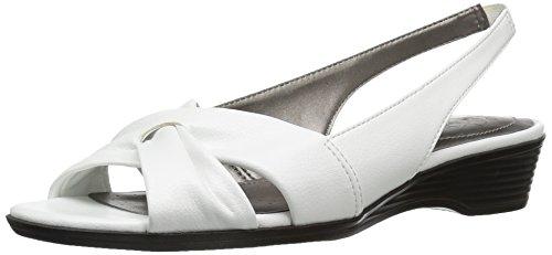 LifeStride Women's Mimosa 2 Flat Sandal, Bright White, 9 N US