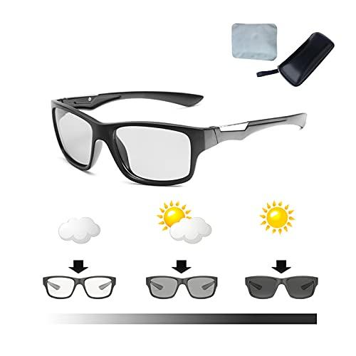Gafas de sol polarizadas fotocromáticas para deportes, gafas de conducción para hombre polarizadas UV400 antirreflejos ultraligeras cómodas para conducción de día y noche regalos hombres y mujeres
