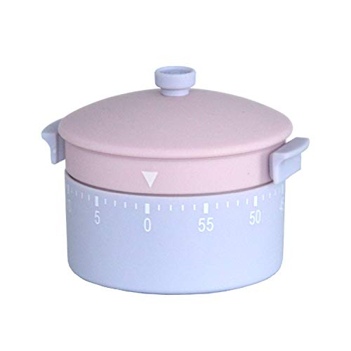 KD Home Kitchen Timer, Pot Shaped Cooking Baking Studying Helper, Unique Rotating Timer, Adorable Home Decor, Twist Clockwise to Set Up to 60 Minutes, Fun & Easy to Use