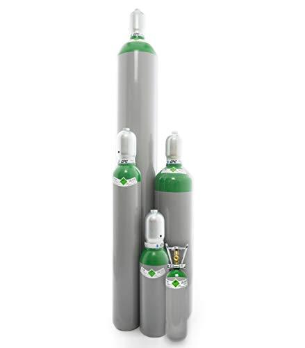 Argon 4.6 Gasflasche (Eigentumsflasche), gefüllt mit Schweißargon (Reinheit 99,996%) (-, 5 Liter Flasche)