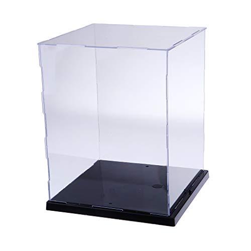 Homyl Klare Schaukasten aus Acryl/Ausstellungshaube Box Mit LED-Licht/Acrylhaube/Vitrine Box/Abdeckhaube/Staubschutz Showcase