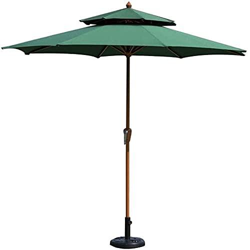 Gartenschirm Sonnenschirm, Sonnenschirm Sonnenschirm Gartenschirm 2.7M Kreis Patio mit kurbelnder Kurbel - Sonnenschirm für Außen, Garten, Strand, Pool Sonnenschutz, ohne...