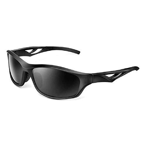 Z-Color Polarizado Gafas de Sol Deportivas for los Hombres de Las Mujeres Ciclismo Correr Gafas UV y Resistente al Viento Gafas de Deporte (Color : Black)