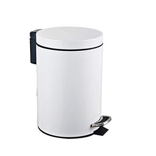 Glatte Oberfläche Hotel Trash Can, Metall Pedal Trash Can Rezeption Wohnzimmer Trash Can leicht zu reinigen Größe: 27 * 20.5 * 20.5CM Recycelbares Design (Color : A, Size : 27 * 20.5cm)