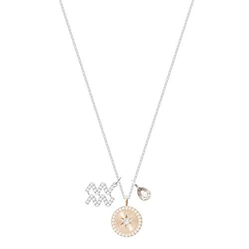 Swarovski Colgante Zodiac, Acuario, de Mujer, Gris, Baño de Rodio