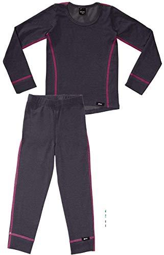 PLEAS PLEAS Thermo Unterwäsche Set für Kinder - Mädchen Thermo Funktionswäsche Skiunterwäsche (Hemd + Hose) (176)