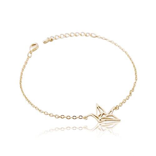 SoulSisters Lieblingsschmuck Armband Origami Crane 18k vergoldet