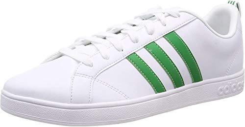 adidas Vs Advantage, Scarpe da Fitness Uomo, Bianco (Ftwbla/Verde/Negbás 000), 46 EU