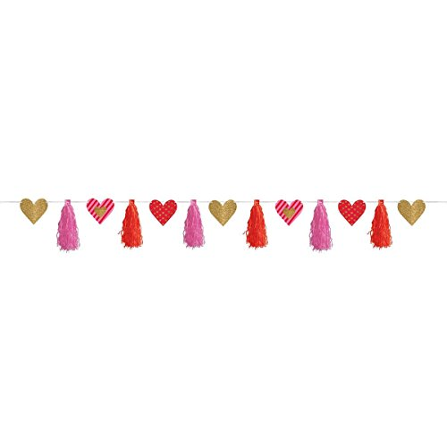 amscan 220294 4.4 m Heart Tassle Garland Decorations