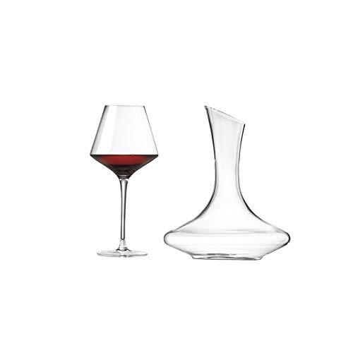 Yuansr Copa de Vino soplado a Mano: Copas de Vino, usadas para Fiestas, Bodas, Regalos, Copas de Vino Transparentes, usadas para Vino Tinto y Vino Blanco (6 Sets) (Size : Style 2)